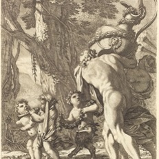 Bacchanal with Figures Carrying a Vase