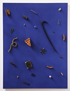 Untitled (crowbar, credit card, pie)