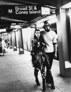 Kate Moss and Marcus Schenkenberg, New York, Italian Harper's Bazaar