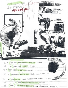 Program Note (Oct. 27, 1994; annotated)