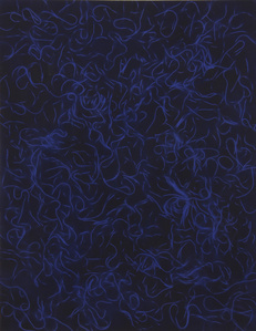 Untitled (Dark Blue Cooked Pasta)