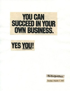 Cutting Out the New York Times, You Can Succeed in Your Own Business