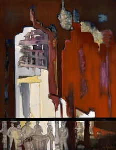 Le Fort Rouge (diptych) (dimensions and pricing are for both pieces, framed)