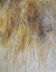 Two Birds in Golden Grass