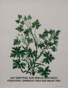 Blattstaude mit Feuerlilie (grün)