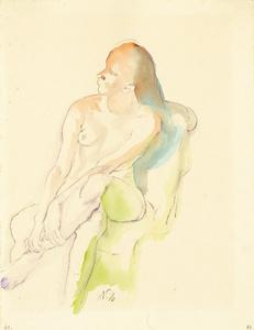 Sitzender Weiblicher Akt (Seated Female Nude)