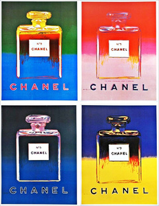 Chanel No. 5, Suite of Four (4) Individual Offset Lithographs on thin linen canvas (Chanel Advertisements from Paris Buses)