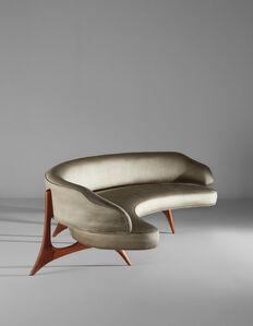 "Custom ""Floating Seat and Back"" sofa"