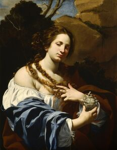Virginia da Vezzo, the Artist's Wife, as the Magdalen