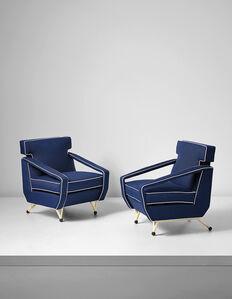 Pair of armchairs, designed for Villa Cirio, Bardonecchia