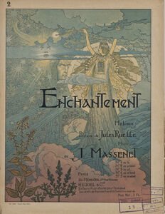 Cover for the sheet music of Enchantement by Jules Massenet