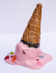 Strawberry with Gummy Bears in Chocolate Dipped Cone