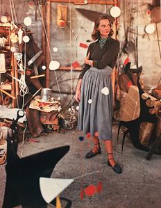 Model in Alexander Calder's Studio