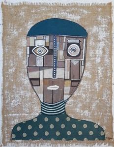 Burlap Portrait B