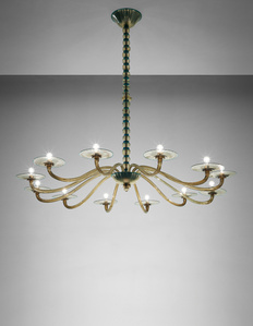 Twelve-armed chandelier