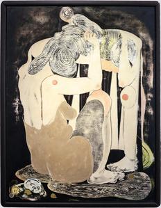 frau vor spiegel II (woman in front of mirror II)