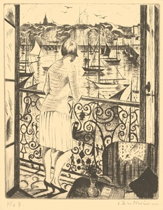 Woman at a Balcony, Dieppe