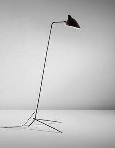 "Simple floor lamp with ""Lampadaire"" shade"
