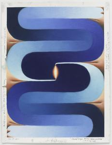 Stacked Lingam (blue, orange, flesh), November 24