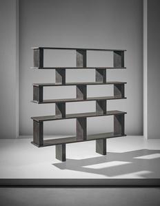 Unique bookcase, designed for Henri Ingber