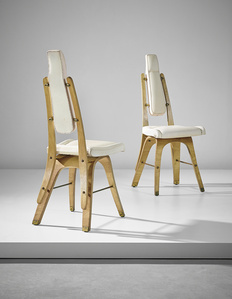 Pair of chairs, designed for the conference room, Lattes Publishing House, Turin