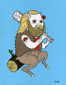 Portrait Of A Woodland Satyr