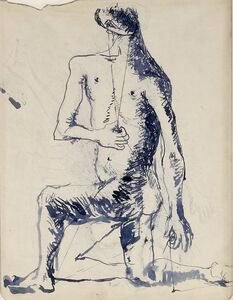 Studies for a Seated Male Figure (double sided)