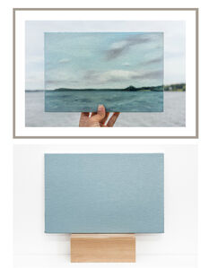 Lake Mendota, 28/06/2017  -  one photograph and one painting of a series of 5 photographs and 5 paintings