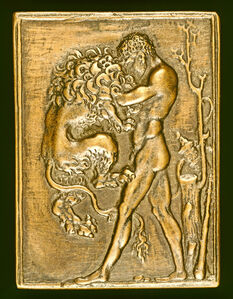 Standing Hercules with the Nemean Lion