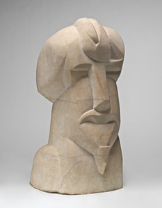 Hieratic Head of Ezra Pound