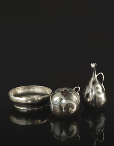 Two Handled Vases and a Coupe