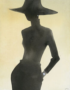 Silhouette (With hat, watch)