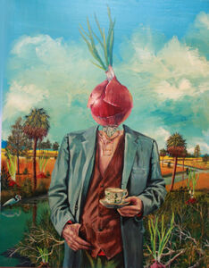Man with Onion Head