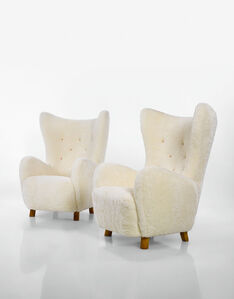 """Pair of """"Wing"""" Armchairs"""