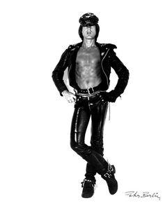 Self Portrait in Black Leather I