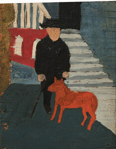 Self Portrait with Dog