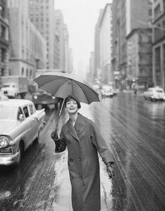 Carmen Under an Umbrella, New York