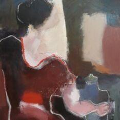 La Femme à la Robe Marron Chez l'Antiquaire