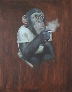 Monkey with a Cigarette II