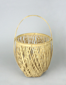 White Bamboo Flower Basket