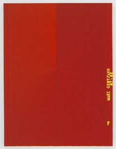 Untitled (Red Butterfly I Yellow P MARK GROTJAHN 07-08 751)