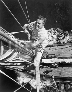 Errol Flynn on His Yacht
