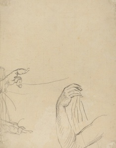 Study of Two Putti and a Draped Arm [verso]