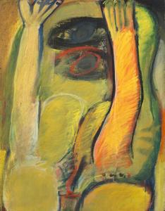 Gelbe Figur