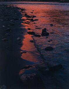 River Edge at Sunset, Below Piute Rapids, San Juan River, Colorado