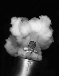 Young Woman being shot out of a cannon, Texas