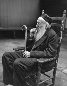 Rabbi with Cane