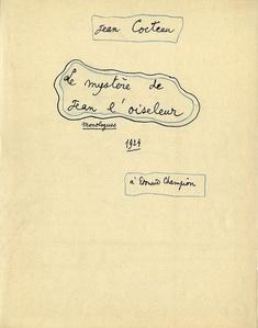Le mystère de Jean l´oiseleur, Monologues/ The Mystery of Jean the Bird-Catcher, Monologues)