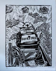 Otter at The Boardwalk (Black)