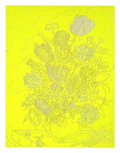 Untitled (Neon Floral Still Life)
